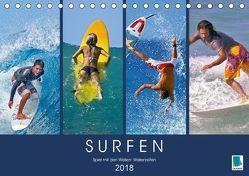 Surfen: Spiel mit den Wellen – Wellenreiten (Tischkalender 2018 DIN A5 quer) von CALVENDO,  k.A.