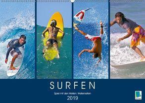 Surfen: Spiel mit den Wellen – Wellenreiten (Wandkalender 2019 DIN A2 quer) von CALVENDO,  k.A.