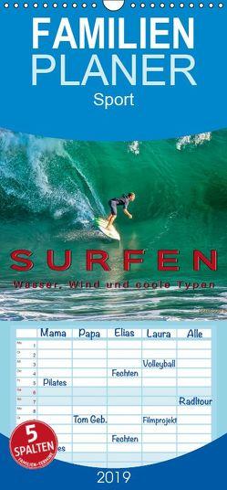 Surfen – Wasser, Wind und coole Typen – Familienplaner hoch (Wandkalender 2019 , 21 cm x 45 cm, hoch) von Roder,  Peter