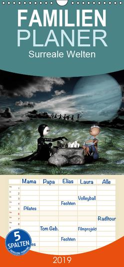 Surreale Welten – Familienplaner hoch (Wandkalender 2019 , 21 cm x 45 cm, hoch) von Buch,  Norbert