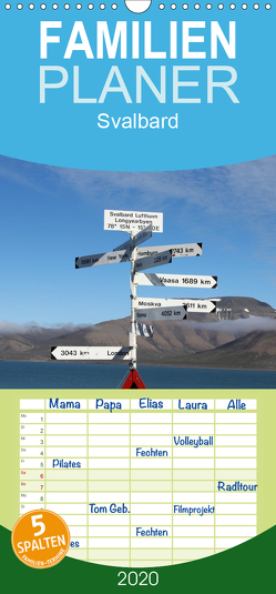 Svalbard – Familienplaner hoch (Wandkalender 2020 , 21 cm x 45 cm, hoch) von Midding,  Michael