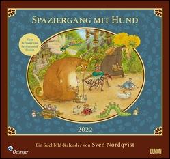 Sven Nordqvist: Spaziergang mit Hund 2022 – DUMONT Kinder-Kalender – Mit 12 Such- und Wimmelbildern – Format 38,0 x 35,5 cm von Nordqvist,  Sven