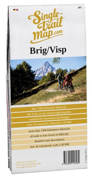 Swiss Singletrail Map / Brig-Visp von Giger,  Thomas