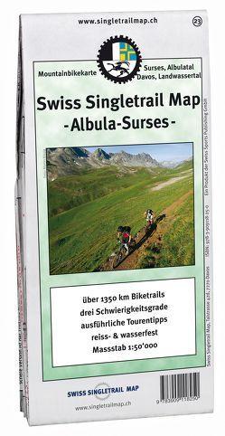 Swiss Singletrail Map / Davos-Albula-Surses von Giger,  Thomas