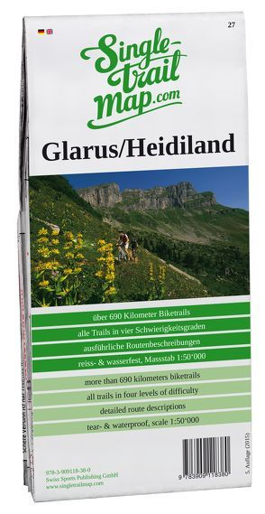 Swiss Singletrail Map / Glarus-Heidiland von Giger,  Thomas