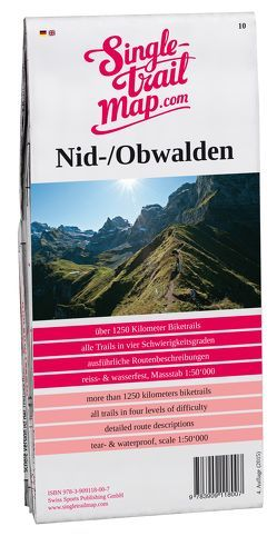 Swiss Singletrail Map / Nid-/Obwalden von Giger,  Thomas