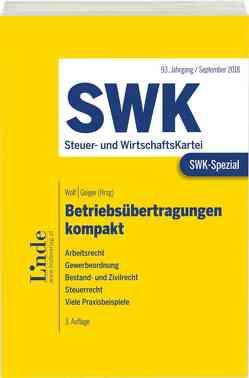 SWK-Spezial Betriebsübertragungen kompakt von Geiger,  Barbara, Manauer,  Susanne, Rauch,  Thomas, Wolf,  Erich