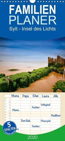Sylt – Insel des Lichts – Familienplaner hoch (Wandkalender 2020 , 21 cm x 45 cm, hoch) von derBecke