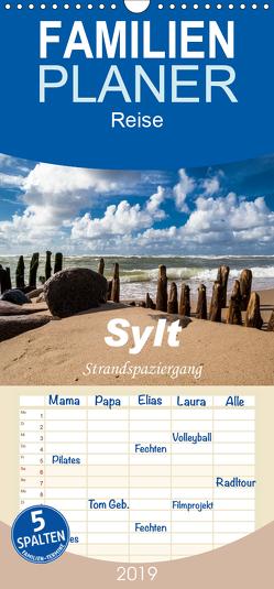 Sylt – Strandspaziergang – Familienplaner hoch (Wandkalender 2019 , 21 cm x 45 cm, hoch) von Dreegmeyer,  H.