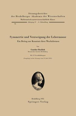 Symmetrie und Verzweigung der Lebermoose von Buchloh,  G.