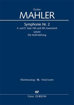Symphonie Nr. 2 (Klavierauszug XL) von Mahler,  Gustav