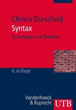 Syntax von Dürscheid,  Christa