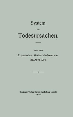 System der Todesursachen von Hirschwald,  August