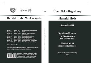 Systemführer zur Werkausgabe von Harald Holz von Holz,  Harald