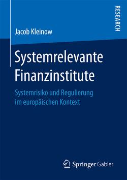 Systemrelevante Finanzinstitute von Kleinow,  Jacob