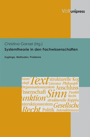 Systemtheorie in den Fachwissenschaften von Gansel,  Christina, Klüter,  Helmut
