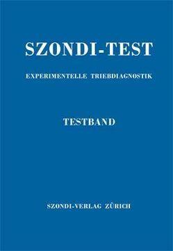 Szondi-Test. Experimentelle Triebdiagnostik. Testband von Szondi,  Leopold