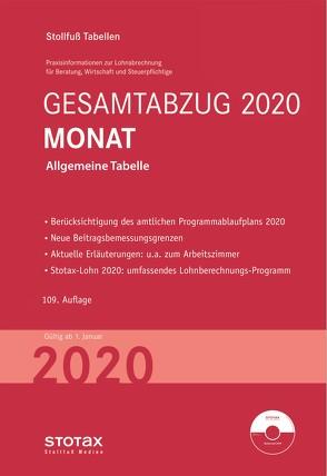 Tabelle, Gesamtabzug 2020 Monat – Sonderausgabe Juli