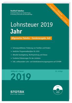 Tabelle, Lohnsteuer 2020 Jahr – Sonderausgabe Juli