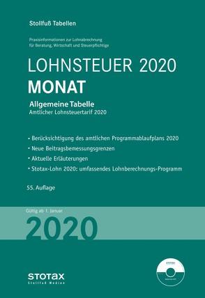 Tabelle, Lohnsteuer 2020 Monat – Sonderausgabe Juli