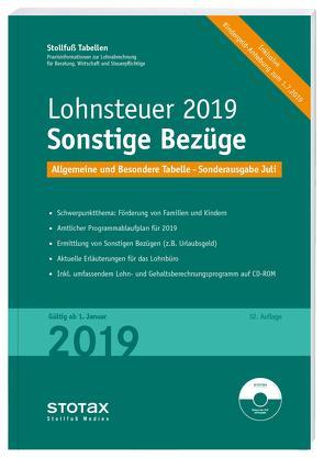 Tabelle, Lohnsteuer 2020 Sonstige Bezüge – Sonderausgabe Juli