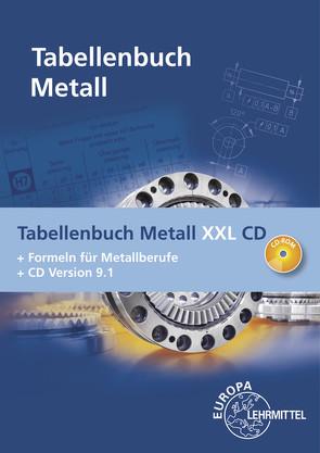 Tabellenbuch Metall XXL CD von Gomeringer,  Roland, Kilgus,  Roland, Menges,  Volker, Oesterle,  Stefan, Rapp,  Thomas, Scholer,  Claudius, Stenzel,  Andreas, Stephan,  Andreas, Wieneke,  Falko