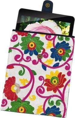 """Tablet-Tasche Ethno """"Blumen"""" klein"""