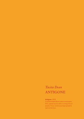 Tacita Dean. Antigone von Carson,  Anne, Dean,  Tacita, Dillane,  Stephen