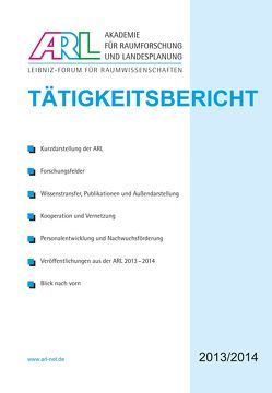 Tätigkeitsbericht der ARL 2013/2014