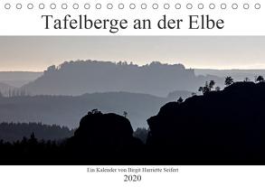 Tafelberge an der Elbe (Tischkalender 2020 DIN A5 quer) von Harriette Seifert,  Birgit
