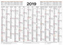 Tafelkalender A3 2019 von Korsch Verlag