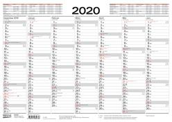 Tafelkalender A3 2020 von Korsch Verlag