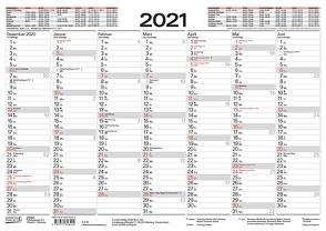 Tafelkalender A3 2021 von Korsch Verlag