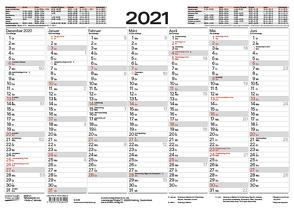 Tafelkalender A4 2021 von Korsch Verlag