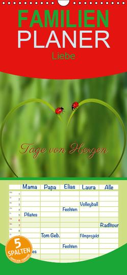 Tage von Herzen – Familienplaner hoch (Wandkalender 2019 , 21 cm x 45 cm, hoch) von Liesenfeld,  Andrea