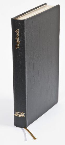 Tagebuch in Leder schwarz von Wiermer,  Hubert