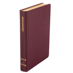 Tagebuch-Kalender 2019-2028 Leder bordeauxrot von Wiermer,  Hubert
