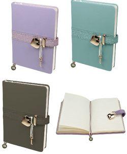 """Tagebuch mit Schloss """"Mat and Shiny"""" zum Schreiben mit linierten Seiten"""
