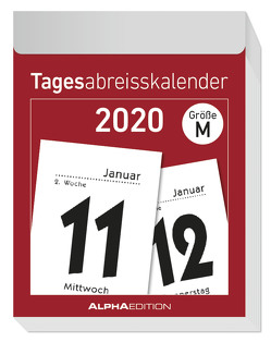 Tagesabreißkalender M 2020 – Wandkalender – Bürokalender (5,5 x 7,1) – 1 Tag 1 Seite – mit Sudokus, Rezepten, Rätseln uvm. von ALPHA EDITION