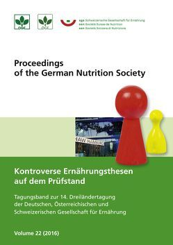 Tagungsband zur 14. Dreiländertagung der DGE, ÖGE & SGE von Deutsche Gesellschaft für Ernährung e. V.