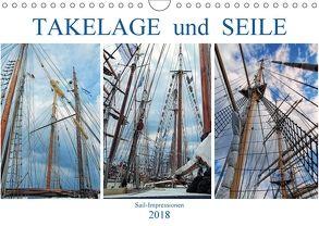 Takelage und Seile. Sailimpressionen (Wandkalender 2018 DIN A4 quer) von MS72