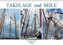 Takelage und Seile. Sailimpressionen (Wandkalender 2019 DIN A3 quer) von MS72