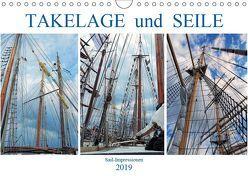 Takelage und Seile. Sailimpressionen (Wandkalender 2019 DIN A4 quer) von MS72