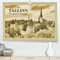 Tallinn – Ein Kalender im Zeitungsstil (Premium, hochwertiger DIN A2 Wandkalender 2021, Kunstdruck in Hochglanz) von Kirsch,  Gunter