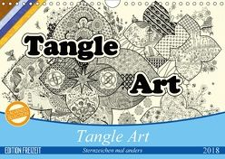 Tangle-Art, Sternzeichen mal anders (Wandkalender 2018 DIN A4 quer) von janne