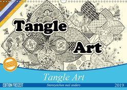Tangle-Art, Sternzeichen mal anders (Wandkalender 2019 DIN A3 quer) von janne