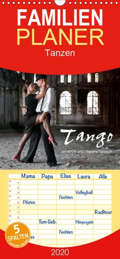 Tango – sinnlich und melancholisch – Familienplaner hoch (Wandkalender 2020 , 21 cm x 45 cm, hoch) von KRÄTSCHMER,  photodesign