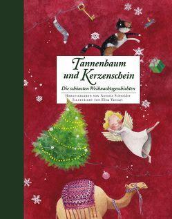 Tannenbaum und Kerzenschein von Schneider,  Antonie, Vavouri,  Elisa
