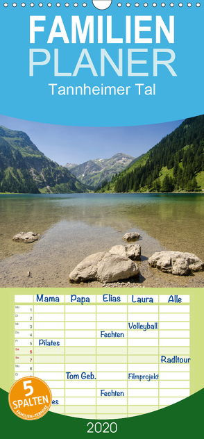 Tannheimer Tal – Familienplaner hoch (Wandkalender 2020 , 21 cm x 45 cm, hoch) von Schmidt,  Bernd