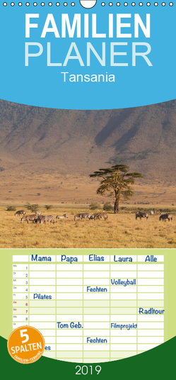Tansania – Familienplaner hoch (Wandkalender 2019 , 21 cm x 45 cm, hoch) von Amrhein,  Horst